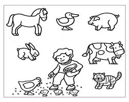 Una Raccolta Di Popolare Animali Da Colorare Della Fattoria