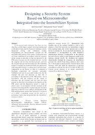 Engine Immobilizer System Indicator Light Pdf Designing A Security System Based On Microcontroller