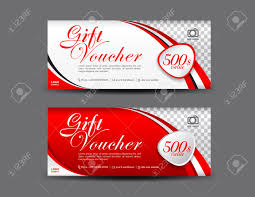 Gift Certificate Template With Logo Red Gift Voucher Template Coupon Design Gift Certificate Ticket