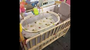 solid wood baby furniture. Solid Wood Multifunctional Baby Crib With Swing Bed Furniture