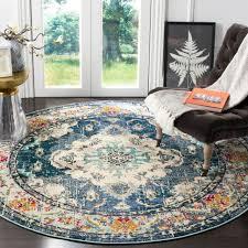 safavieh monaco amelie vintage medallion navy light blue rug 6 7 x