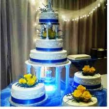 blue wedding cakes fountain. Perfect Blue Blue And Yellow With Fountain  On Wedding Cakes Fountain E