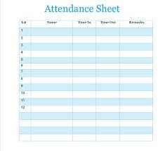 Sample Attendance Sheets Free Printable Attendance Sheet Samples Vatansun