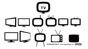 テレビのベクター素材 シルエットデザイン