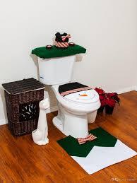 Großhandel Weihnachten Badezimmer Wc Sitzbezug Und Teppich Set Grün