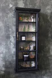 tall slim distressed wall cabinet