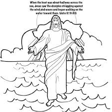 20 Jesus Walks On Water Coloring Page Collections Free Coloring Pages