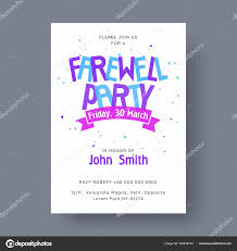 Invitation Cards For Farewell Party Farewell Party Banner Or Invitation Card Design Stock Vector