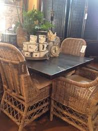 summer cote wicker chair see more scottsdale bungalow az black and natural dining room wicker dining rooms small