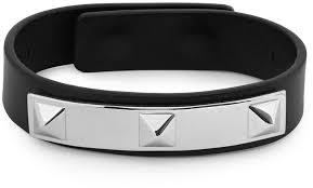 valentino studded leather bracelet