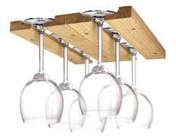 wood under cabinet wine glass rack wine glass holder display hanging bar shelf wooden under cabinet