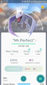 Pokemon Go Perfect Iv Aerodactyl Fully Lvled Cp At Player