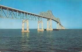 Details About The Sunshine Skyway Bridge Across Tampa Bay Florida Vintage Postcard