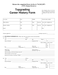 Topgrading Chart Topgrading Career History Form Fill Out And Sign Printable