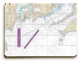Ma Ri Marthas Vineyard Ma To Block Island Ri Nautical Chart Sign