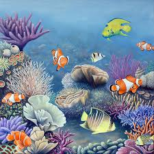 Coral Reef Paint Color Realistic Paintings Of Coral Reef Coral Reef Painting Surf Art