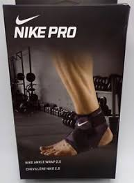 Details About Nike Pro Combat Ankle Wrap 2 0 Black White Mens Womens Large