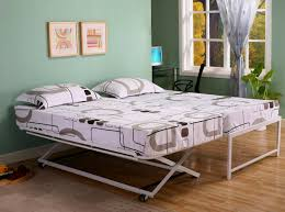 Furniture : Pop Up Trundle Frame Twin Size Mattress Queen With ...