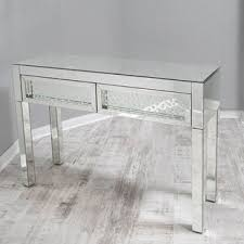 mirror console table. Floating Crystal Mirrored Console Table Mirror