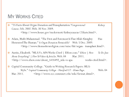 Ppt Mla Parenthetical Citation Works Cited Powerpoint