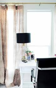 curtains for home office. Fawn Or Antelope Curtains Add An Eclectic Touch To This Blogger Home Office Space. For