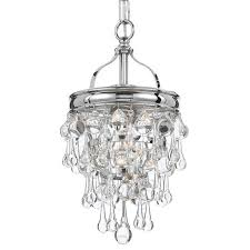 crystorama calypso 1 light chrome mini chandelier