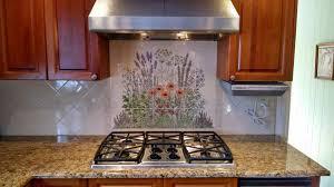 top hand painted tile backsplash flowers cabinet hardware room intended for hand painted kitchen backsplash tiles remodel