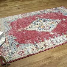 pink vintage area rug