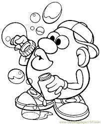 Small Picture Mr Potato Head 012 Coloring Page Free Mister Potato Coloring