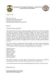 Example Of Application Letter For Ojt Bsba Example Of Ojt Final
