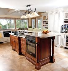 kitchen island breakfast bar pendant lighting. Incomparable Kitchen Island With Stove And Oven Also Two Level Breakfast Bar White Granite Countertops Pendant Lighting O