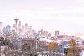 Seattle Cityscape Seattle Cityscape Morning Light Winter Shoot Kerry Park