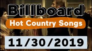 Billboard Top 50 Hot Country Songs November 30 2019