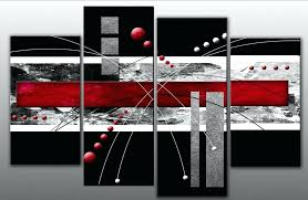 red wall art large black grey abstract canvas picture split multi 4 panel set three wal large horse canvas print multi panel wall art within ideas 9 extra  on extra large multi panel wall art with large horse canvas print multi panel wall art within ideas 9 extra