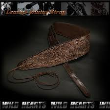genuine leather acoustic guitar strap acoustic guitar snake pattern wild hearts leather silver