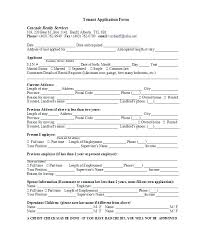 Home Rental Application Template Basic Ideal Portrait Form For Lease ...