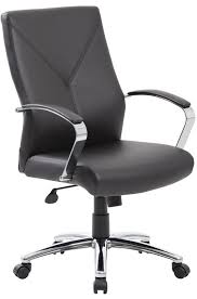 boss modern leather office chair chrome base