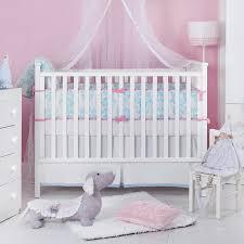 light blue crib bedding inspirational ela light blue organic cotton baby bedding set