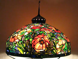 stained glass hanging lamp antique lamps small shades patterns hardware stained glass hanging lamp