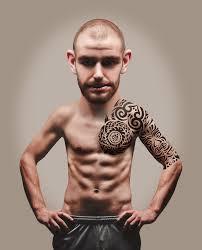 Free Fotobanka Muž Kufr Mužský Chlap Model Tetování člověk