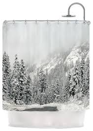 black and gray shower curtain. robin dickinson \ black and gray shower curtain