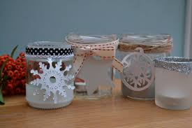 Decorated Jam Jars For Christmas Easy Craft Jam Jar Tealight Holders For Christmas Tidylife 12