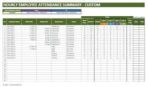 Attendance Tracker Spreadsheet Attendance Controller Employee Calendar Tracker Tracking