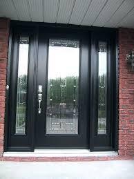 mesmerizing glass panel front door wooden doors with panels exterior side