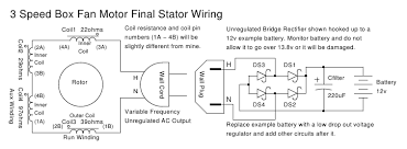 box fan wind turbine final stator wiring a single phase motor will have a single phase output this is just like normal 120 240v ac wall power since the box fan used to be fed