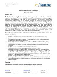Warehouse Purchasing Coordinator062613 Warehouse Inventory