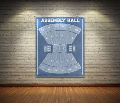 Iu Assembly Hall Seating Chart Vintage Print Of Assembly Hall Seating Chart Indiana