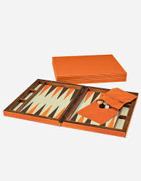 leather backgammon case made in italy