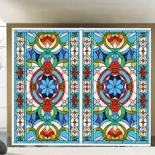 stained glass sticker scrub balcony bedroom wardrobe sliding door window stickers european style vintage art on aliexpress com alibaba group