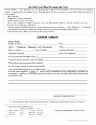 Employee Write Up Form 46 Effective Employee Write Up Forms Disciplinary Action Forms